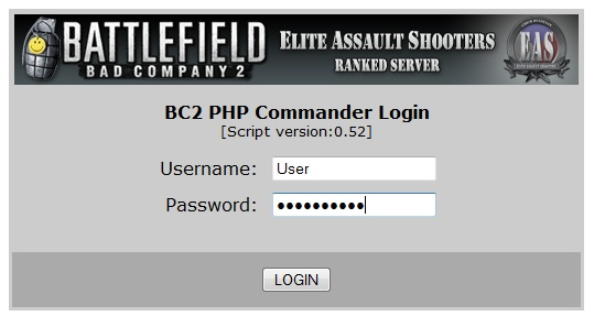 Bad Company 2 PHP Commander, BC2php_commander, web rcon